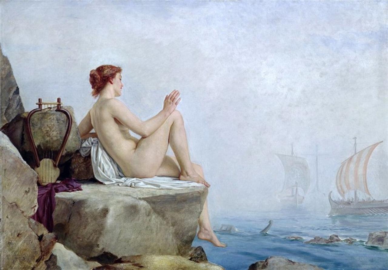 The Siren, Edward Armitage 1888
